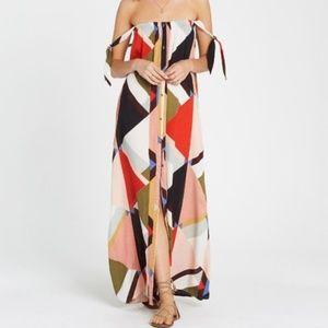 Billabong Rainbow Gate Printed Maxi Dress